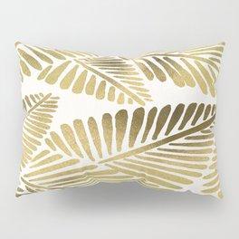 Tropical Banana Leaves – Gold Palette Pillow Sham