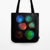 planets Tote Bags featuring planets by clemm
