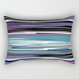 Abstract stripes in blue Rectangular Pillow