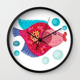 Cute Carp Fishing Wall Clock