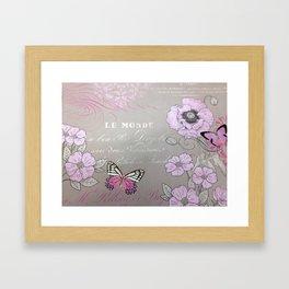 Butterflies Butterfly Lavender Purple Floral Wall Art Home Decor Framed Art Print
