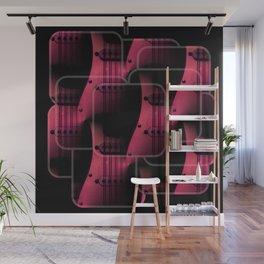 Pink Guitar Jumble Wall Mural