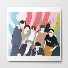 BTS Dynamite FanArt Metal Print