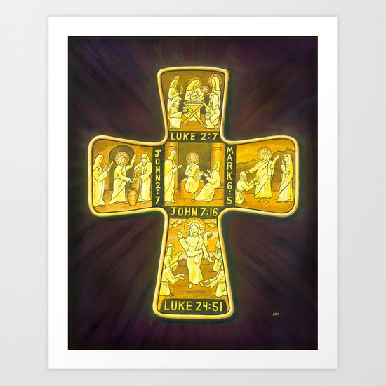His Life Cross Art Print