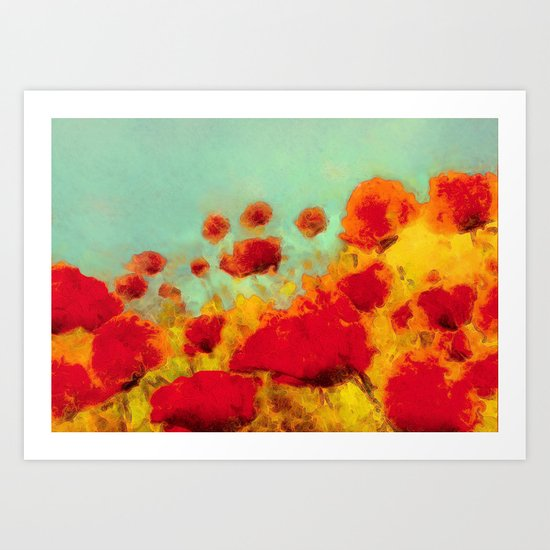 FLOWERS - Poppy time Art Print