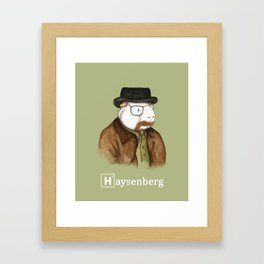 Haysenberg Breaking Bad Guinea Pig Framed Art Print