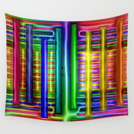 Colorful plastics ... Wall Tapestry