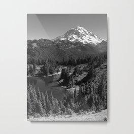 Mount Rainier B&W Metal Print