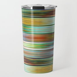Colorful Metal Ribbons Pattern Travel Mug