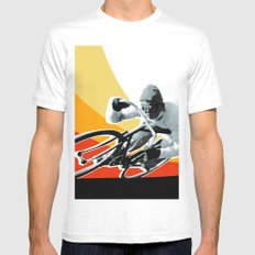 speed demon MEDIUM White Mens Fitted Tee