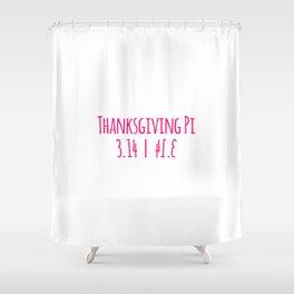 Thanksgiving Day Math Teacher Pumpkin Pie Pi Symbol Mirrored Shower Curtain