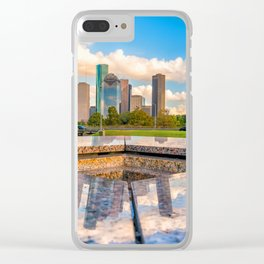 Houston 02 - USA Clear iPhone Case