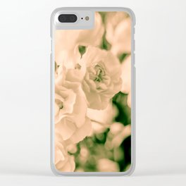Romance and Ruffles beautiful flowers Clear iPhone Case