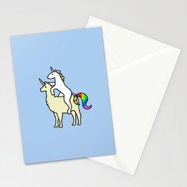 Unicorn Riding Llamacorn Stationery Cards