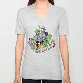 Mine City Unisex V-Neck