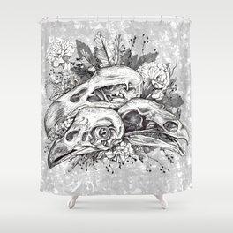 Skull Pile Shower Curtain