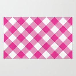 Gingham - Pink Rug
