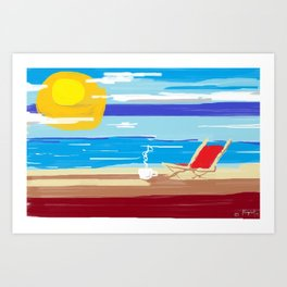 the perfect day. Art Print