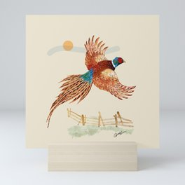 male pheasant Mini Art Print