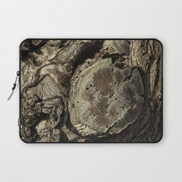 The Skin and Scar of a Cottonwood Tree Laptop Sleeve