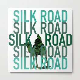 The Silk Road Marketplace  Metal Print