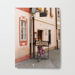 Hostel Parking Metal Print