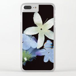 Artificial Flowers Glitched Scan Clear iPhone Case