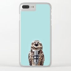 SINGING OWL Clear iPhone Case