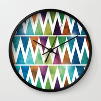 skyfall Wall Clocks featuring SkyFall by Digi Treats 2