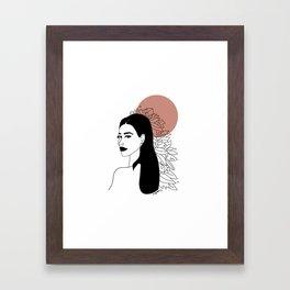 she was red Framed Art Print