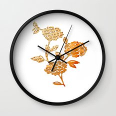 PAPERCUT FLOWER 3 Wall Clock