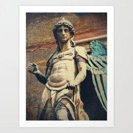 Estatua de San Miguel Art Print