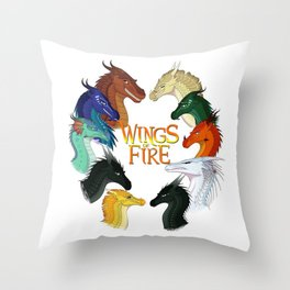 Love Wings of Fire Throw Pillow