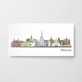 Moscow skyline colored Metal Print