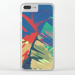 Tropic Topic Clear iPhone Case