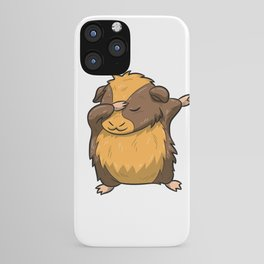 Dabbing Guinea Pig Shirt Hamster Cavy Dab Pet Gift iPhone Case