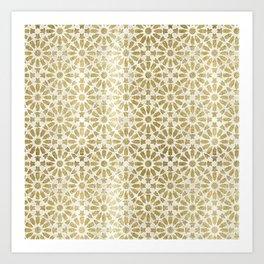 Hara Tiles Gold Art Print