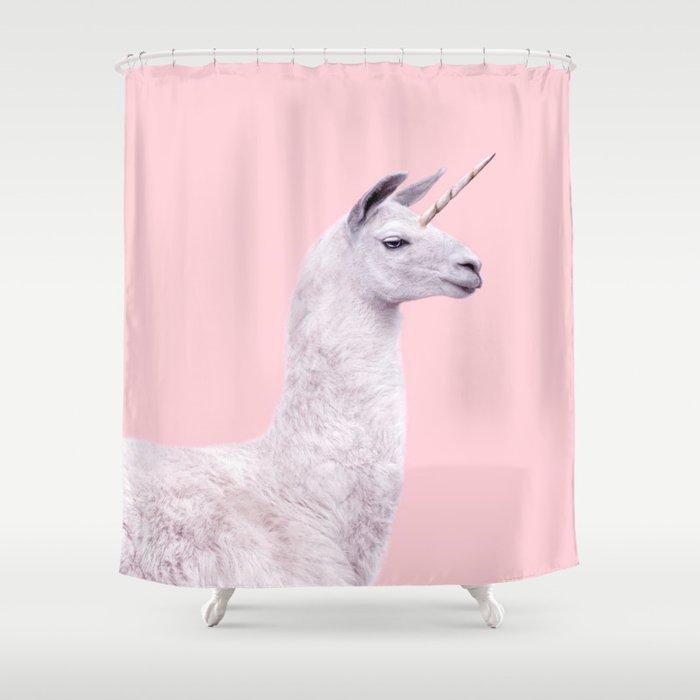 Unicorn Lama Shower Curtain By Paulfuentes Society6