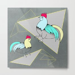 Coq français - French rooster Metal Print