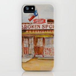 The Broken Spoke - Austin's Legendary Honky-Tonk Watercolor Painting iPhone Case