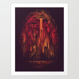 The Visitor Art Print