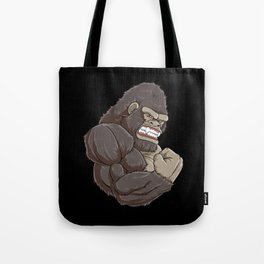 Gorilla At The Gym | Fitness Training Muscles Tote Bag