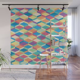 Colorful Squares Pattern Wall Mural