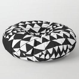 Black Triangles Floor Pillow