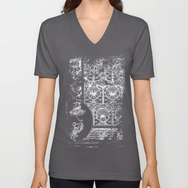 The Plant and its ornamental applications - Old book page - Patern - Flowers Unisex V-Neck
