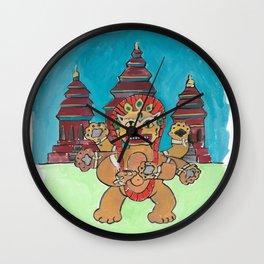 Cambodia Cat Wall Clock