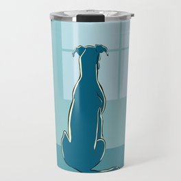 Waiting Greyhound Travel Mug