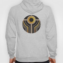 Art Deco Watching You In Black And Gold Hoody