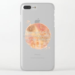 wuthering heights emily bronte quote watercolor Clear iPhone Case