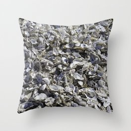 Shucked Oyster Shells Throw Pillow